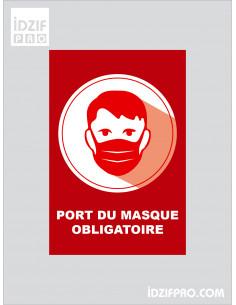 Affiche port du masque...