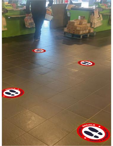 Stickers de sol distance de sécurité