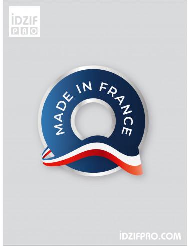 Autocollant Made in France avec découpe à la forme