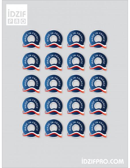 Planche de stickers avec découpe à la forme Made in France