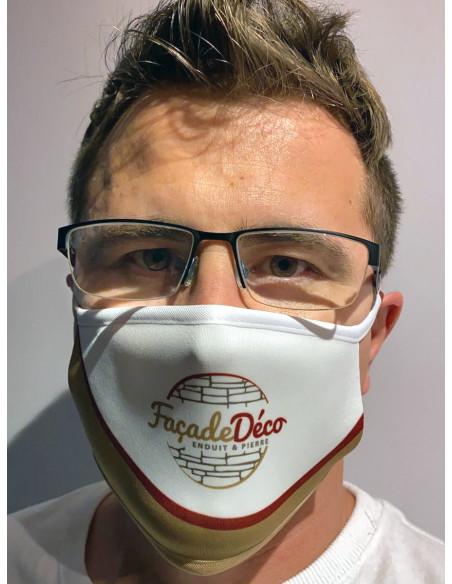 masque sur mesure pour entreprise du bâtiment