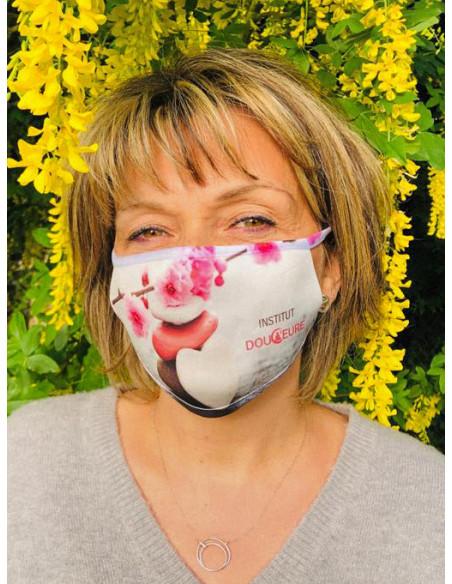 masque sur mesure pour esthéticienne