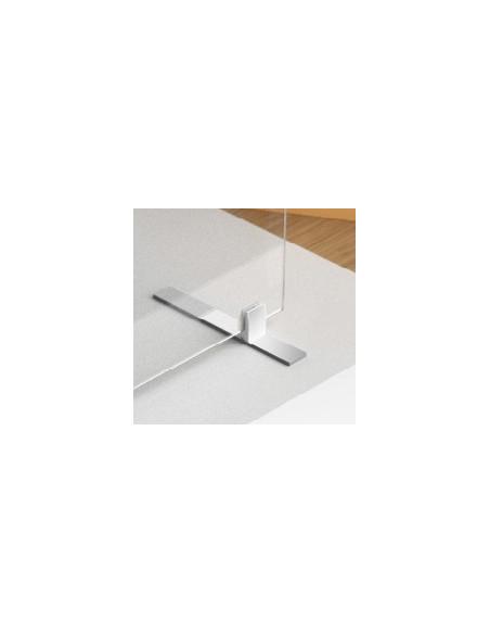 platine chromée carrée
