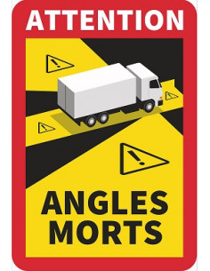 Stickers angles morts camion