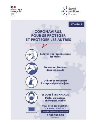 Affiche conseils coronavirus covid19